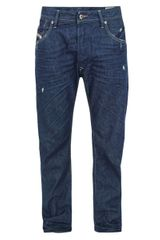 Diesel Mens Bravefort Relaxed 880k Wash Jeans