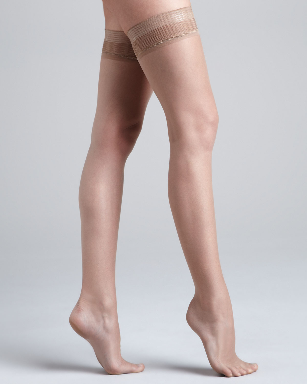 d6572234a Donna Karan Nudes Thigh High Stayup Stockings in Natural - Lyst