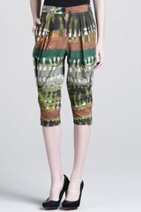 Donna Karan New York Tribal Print Cropped Pants - Lyst