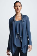 Donna Karan New York Twisted Doublelayer Cozy Slate Blue - Lyst