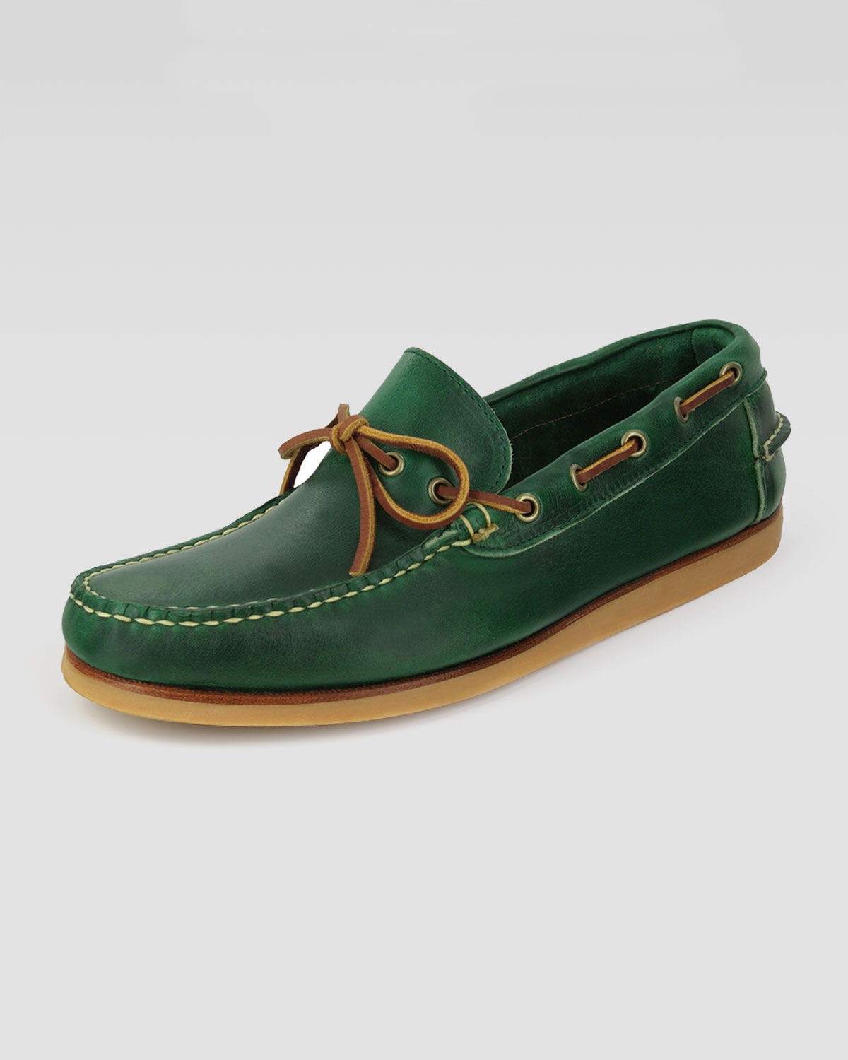 abf36472e0e Lyst - Eastland Yarmouth Boat Shoe Green in Green