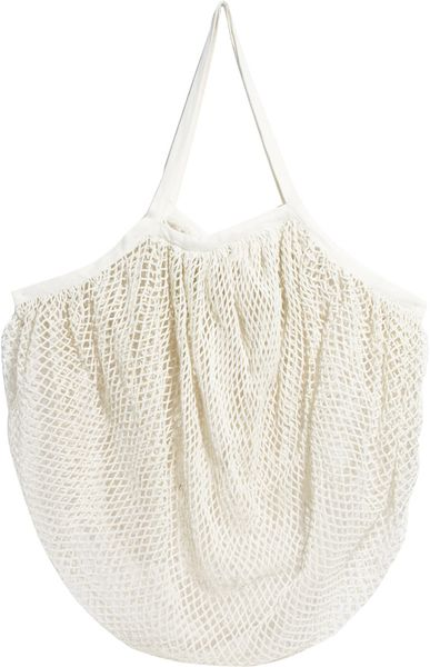 Echo Fishnet Beach Bag in White (White100) - Lyst