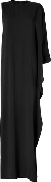 Elie Saab Asymmetric Gown in Black - Lyst