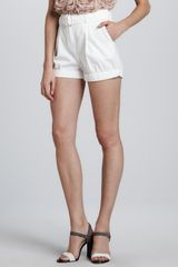 Elizabeth And James Brady Belted Highwaist Shorts - Lyst