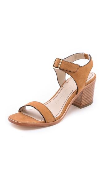 Elizabeth and james Ryann Low Heel Sandals in Brown | Lyst