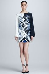 Emilio Pucci Jazz Print Silk Dress - Lyst