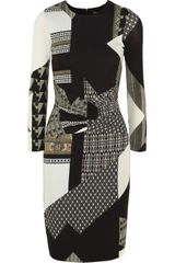 Etro Printed Stretchjersey Dress - Lyst