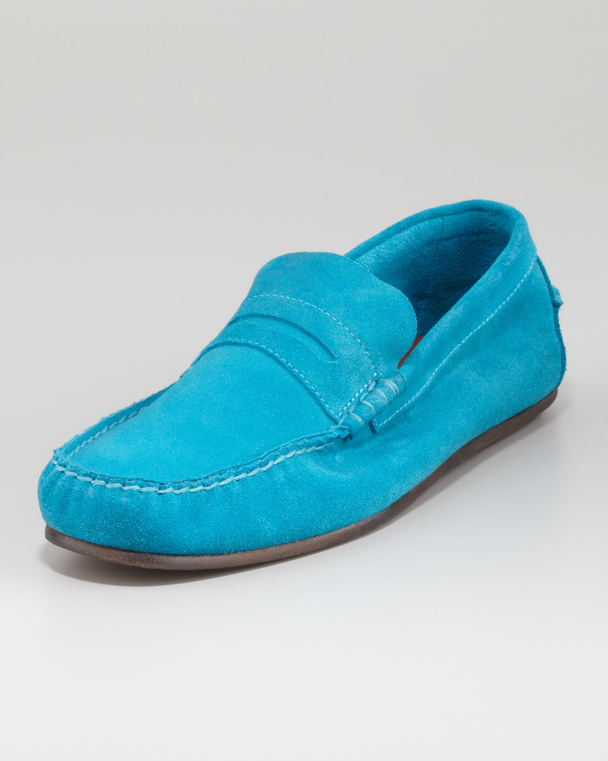 Mens Turquoise Loafers Gold Spiked Loafers Mens