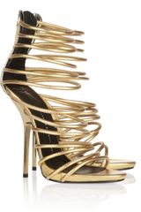 Giuseppe Zanotti Metallic Leather Sandals - Lyst