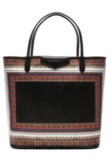 Givenchy Medium Antigona Shopper in Blue black abstract - Lyst