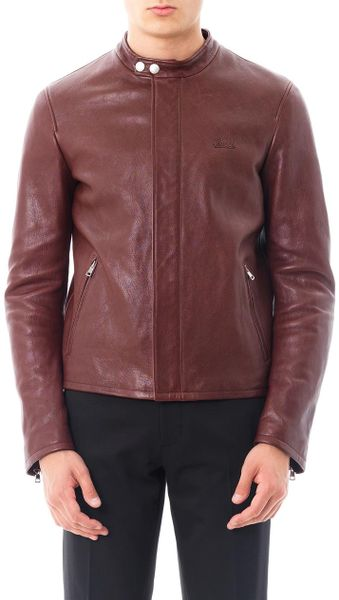Scotch and Soda Leather Jacket Red