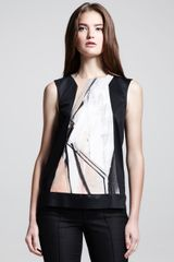 Helmut Lang Sleeveless Printed Panel Top - Lyst