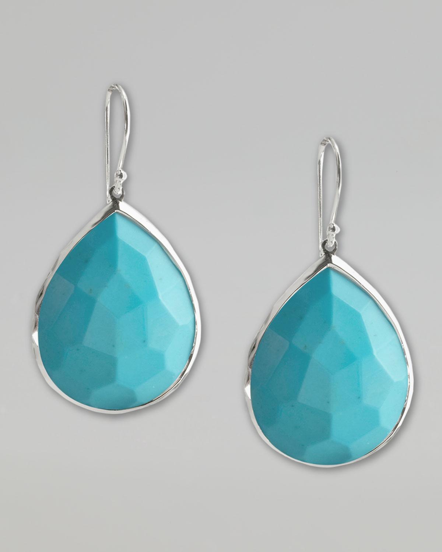 Ippolita Turquoise Teardrop Earrings, Medium