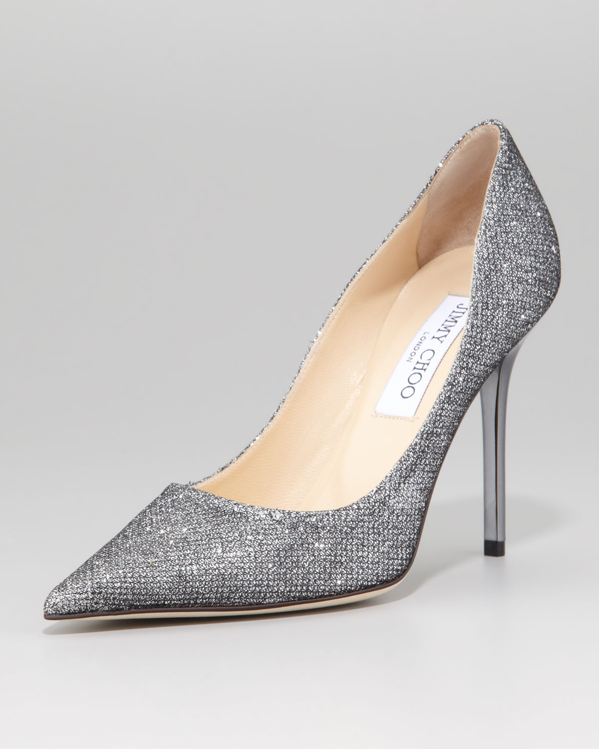 6ab59c103d8 Lyst - Jimmy Choo Abel Glitter Pointed Pump Anthracite in Gray