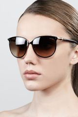 Jimmy Choo Juliet Metal Cateye Sunglasses Black - Lyst
