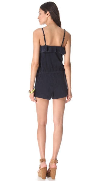 260e59f3dfb9 Lyst - Juicy Couture Terry Romper in Blue