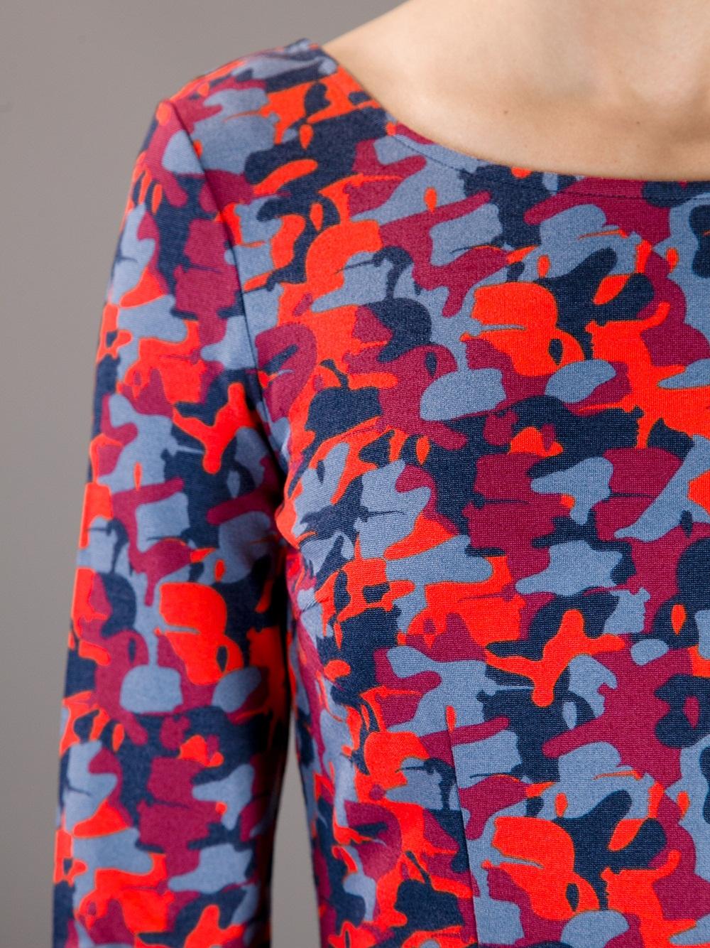 Lyst Karl Lagerfeld Camouflage Dress