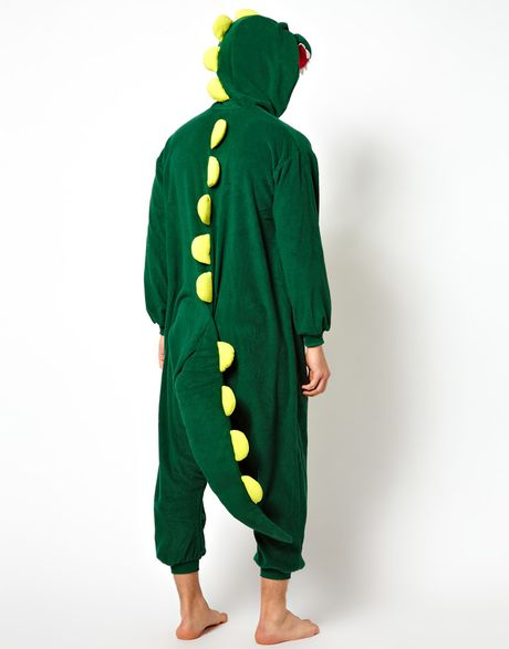 Minkpink Kigu Dinosaur Onesie In Green For Men Lyst