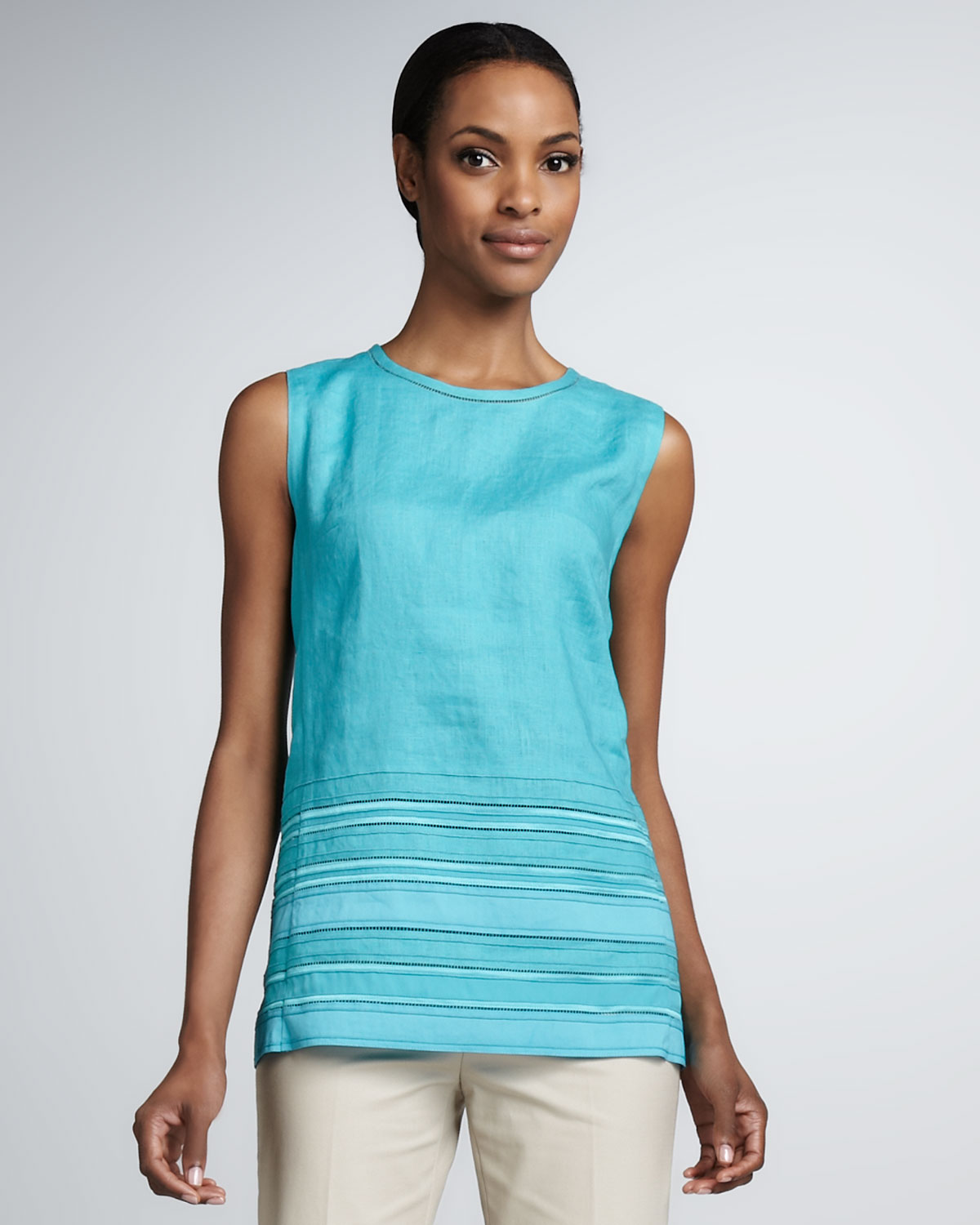 148 Best Linen Images On Pinterest: Lafayette 148 New York Womens Denna Linen Sleeveless Top