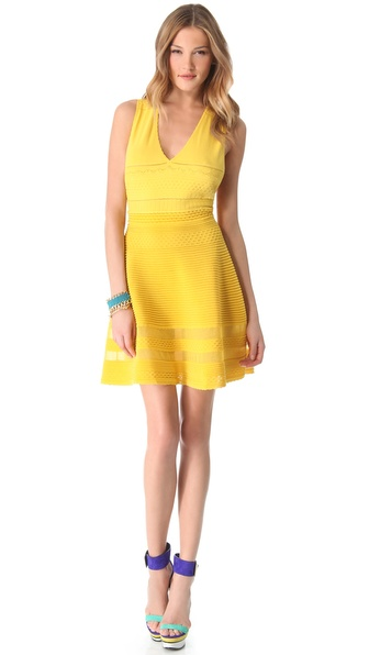 5020921f1c70 Lyst - M Missoni V Neck Dress in Yellow