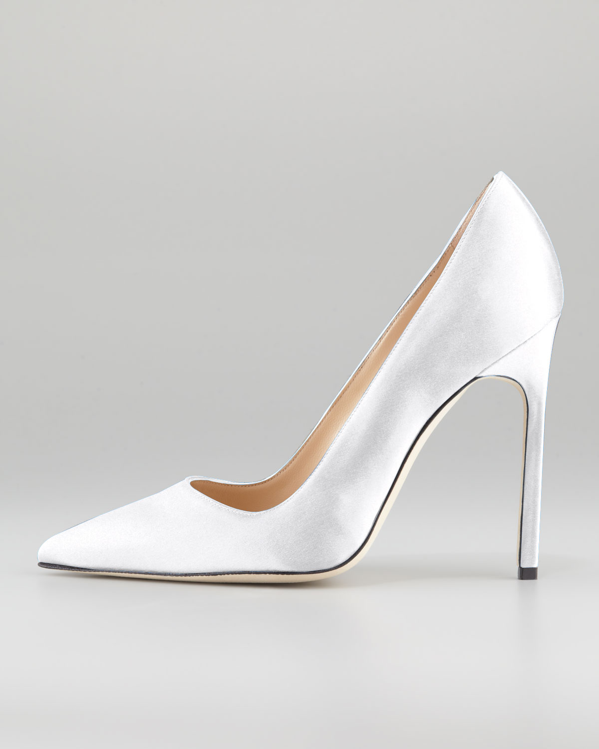 a2efdbec2d1 ... uk lyst manolo blahnik bb satin 115mm pump white made to order in white  018f8 7a6ca