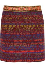 Matthew Williamson Embellished Jacquard Skirt - Lyst