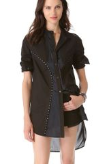 McQ by Alexander McQueen Hook Eye Shirtdress Tunic - Lyst