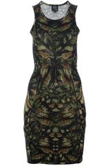 McQ by Alexander McQueen Printed Mesh Dress - Lyst