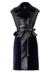 McQ by Alexander McQueen Leather Biker Peplum Dress - Lyst