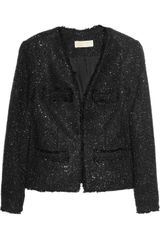 Michael by Michael Kors Sequined Bouclã Jacket - Lyst
