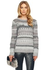Michael by Michael Kors Textured Intarsia Sweater - Lyst