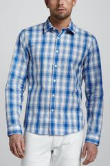 Michael Kors Largecheck Tailored Shirt - Lyst