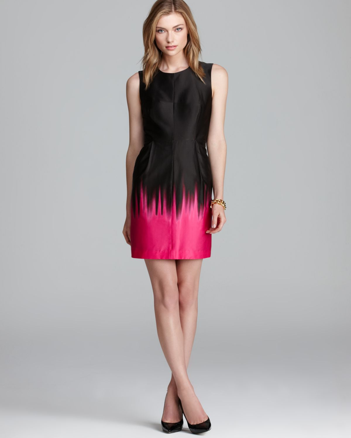 Milly Dress Coco Ombre in Black  Lyst