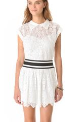Milly Walker Lace Cropped Top - Lyst