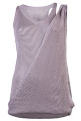 Mm6 By Maison Martin Margiela Switch Shoulder Tank - Lyst