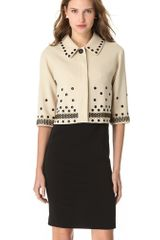 Moschino Studded Crop Jacket - Lyst
