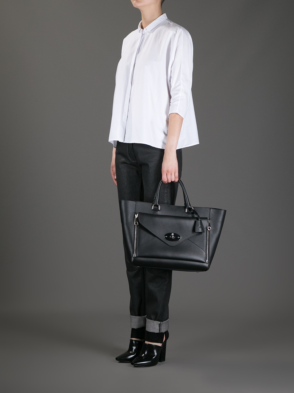 d39904658c6d ... calf small willow tote wheat 81278 ce722 dbf62 shop lyst mulberry  willow tote bag in black 20ee0 38516 ...