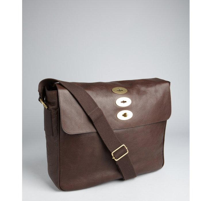 579ec1e475c ... usa mulberry chocolate leather brynmore messenger bag in brown for men  b1737 113eb ...
