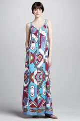Nanette Lepore Machu Picchu Printed Maxi Dress - Lyst