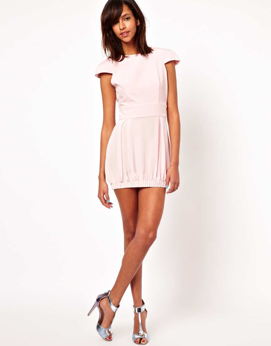 Naven Party Dress in Silk in Natural | Lyst