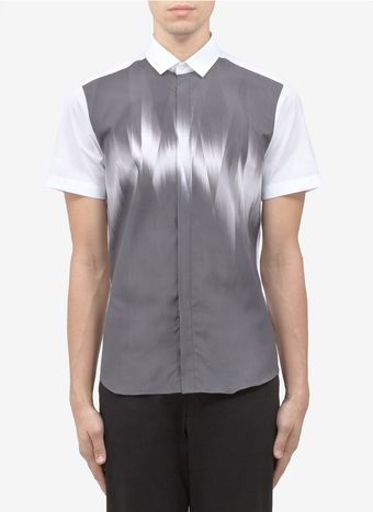 Neil Barrett Digital Print Cotton Shirt - Lyst