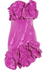 Notte By Marchesa Ruffled Taffeta Dress - Lyst