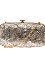 Oscar de la Renta Embroidered Sequined Clutch - Lyst