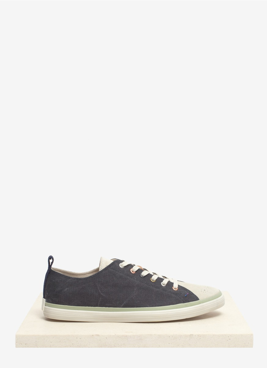 paul smith lokai canvas sneakers in gray for lyst