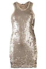 Plein Sud Jeanius Sequin Tank Dress - Lyst
