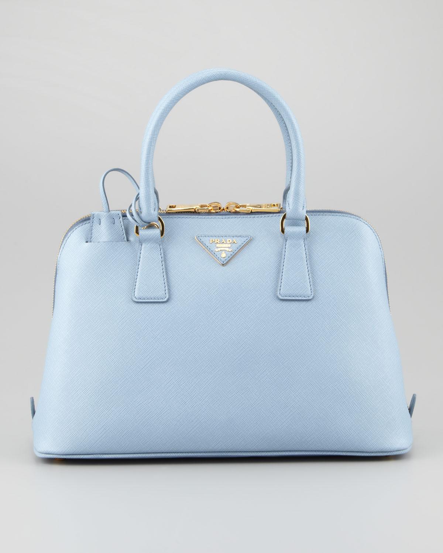 Prada Saffiano Small Promenade Crossbody Bag in Blue | Lyst