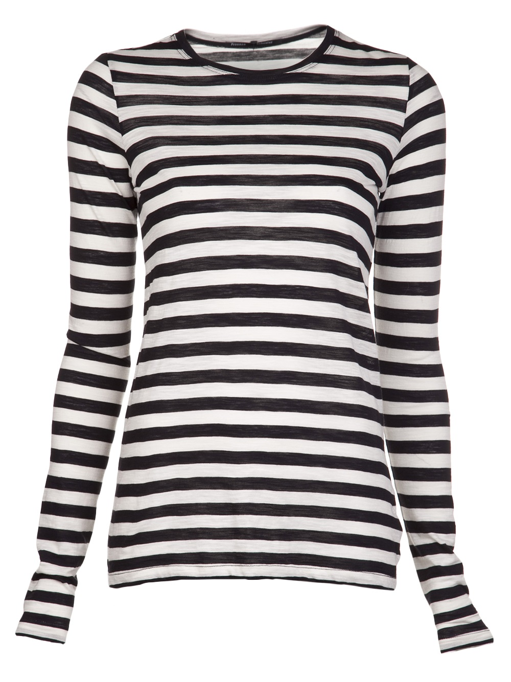 Proenza schouler striped tshirt in black lyst