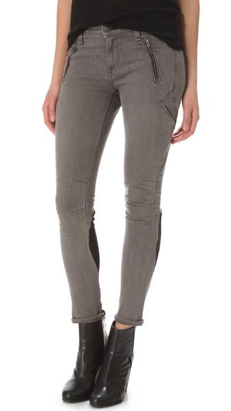 Rag & bone Rally Cargo Skinny Jeans in Gray | Lyst