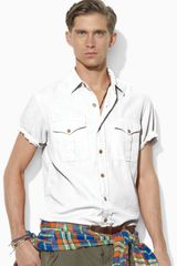 Ralph Lauren Polo Short-sleeved Woven Military Safari Shirt - Lyst