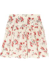 RED Valentino Floralprint Ruffled Cotton Skirt - Lyst
